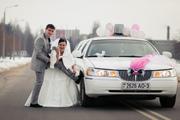 Свадебное платье и украшение на машину!
