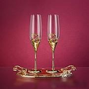 Эксклюзивные Подарочные и Свадебные Бокалы со стразами Swarovski