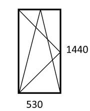 Продам окно ПВХ новое,  поворотно-откидное,  530 x 1440
