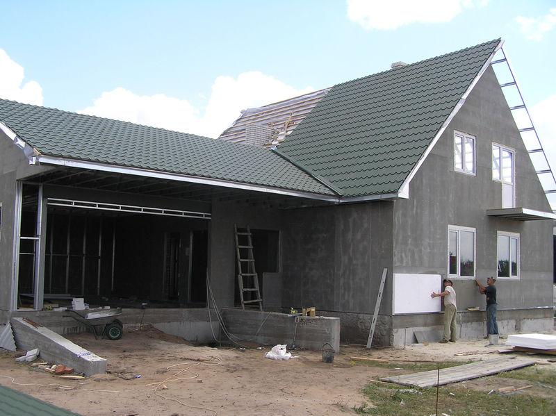Строительство дома лстк своими руками