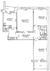 3-х комнатная ,  приватизированная квартира